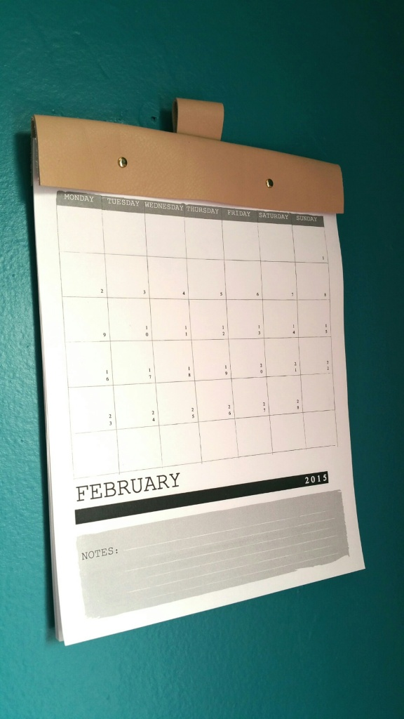 DIY Leather Calendar