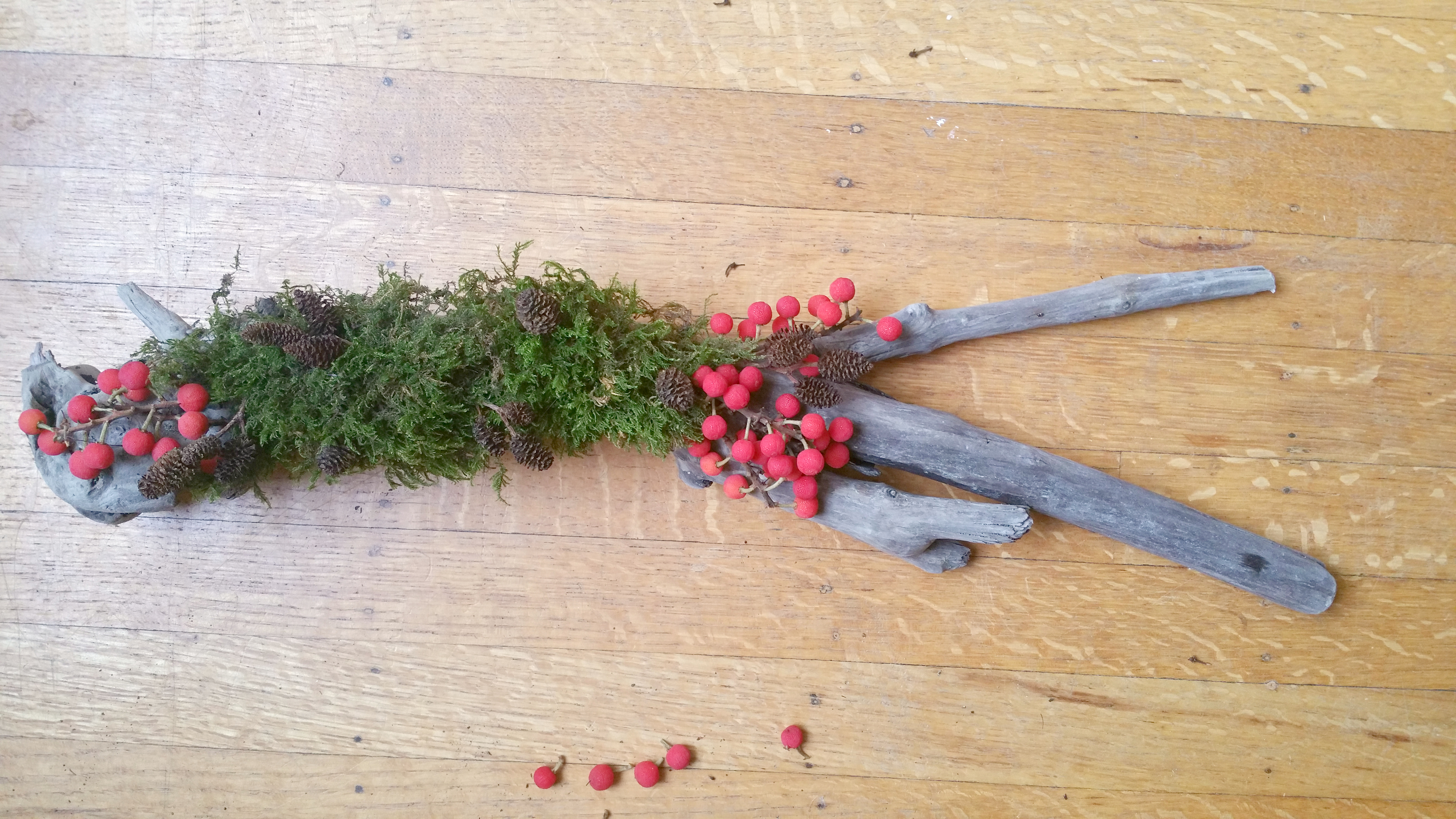 berries, driftwood, DIY
